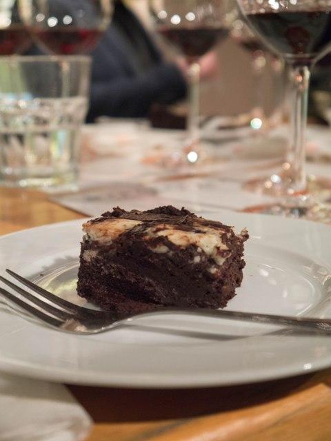 Mielżyński Porto i Czekolada Brownie z gorgonzolą dolce