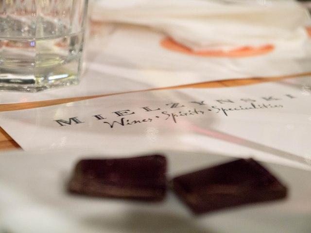 Mielżyński Porto i Czekolada Logo z czekoladą