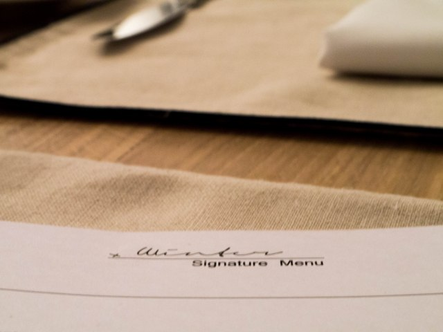 Signature Winter Menu