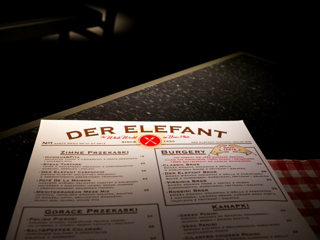 Der Elefant Menu