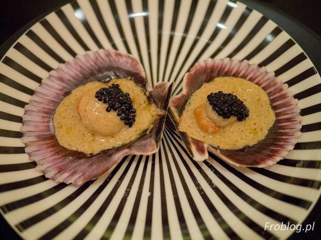 La Tasquita de Enfrente Przegrzebki w sosie sweet sherry z kawiorem z czarnej trufli