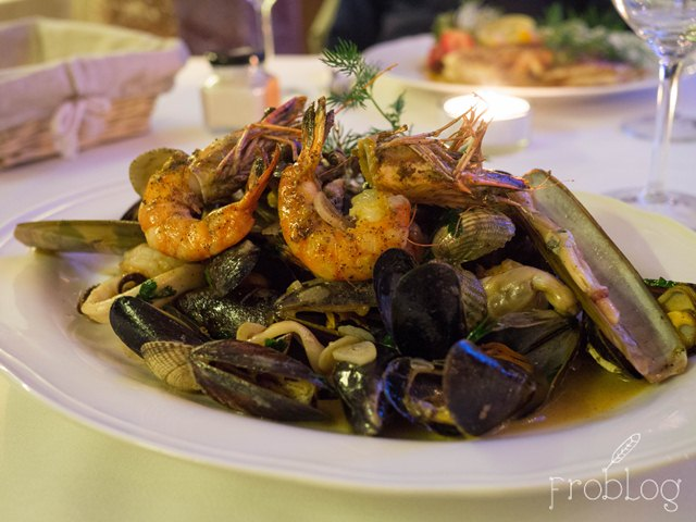 Restauracja Pellicano Półmisek owoców morza