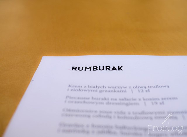 Rumburak Menu