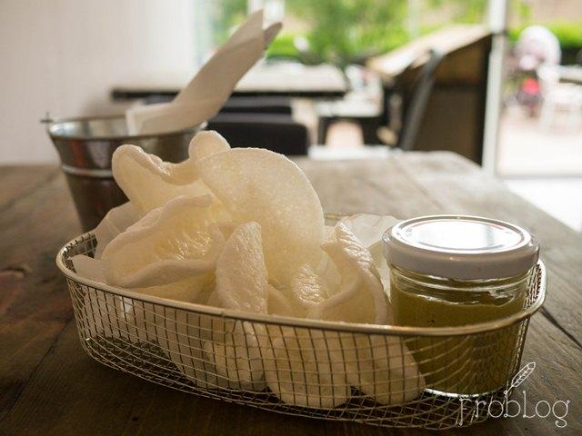 Tapas Gastrobar Prażynki Krewetkowe z Pastą z Małży