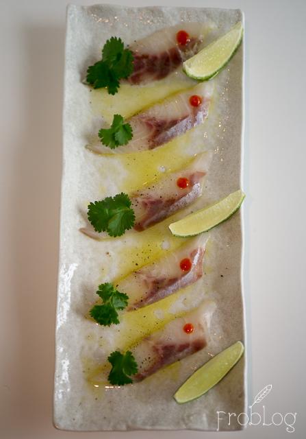 Wabu Sushi Carpaccio z okonia morskiego