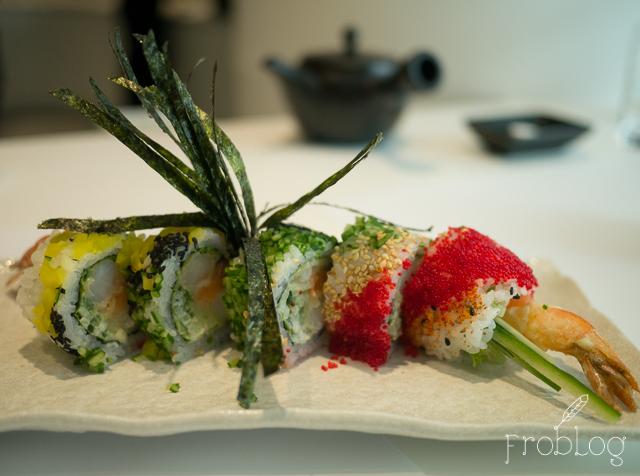 Wabu Sushi Maki z krewetką w tempurze i łososiem