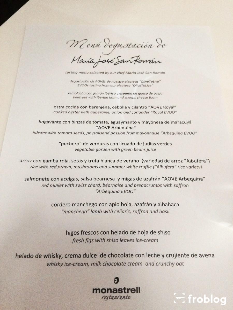 Monastrell: Menu degustacyjne