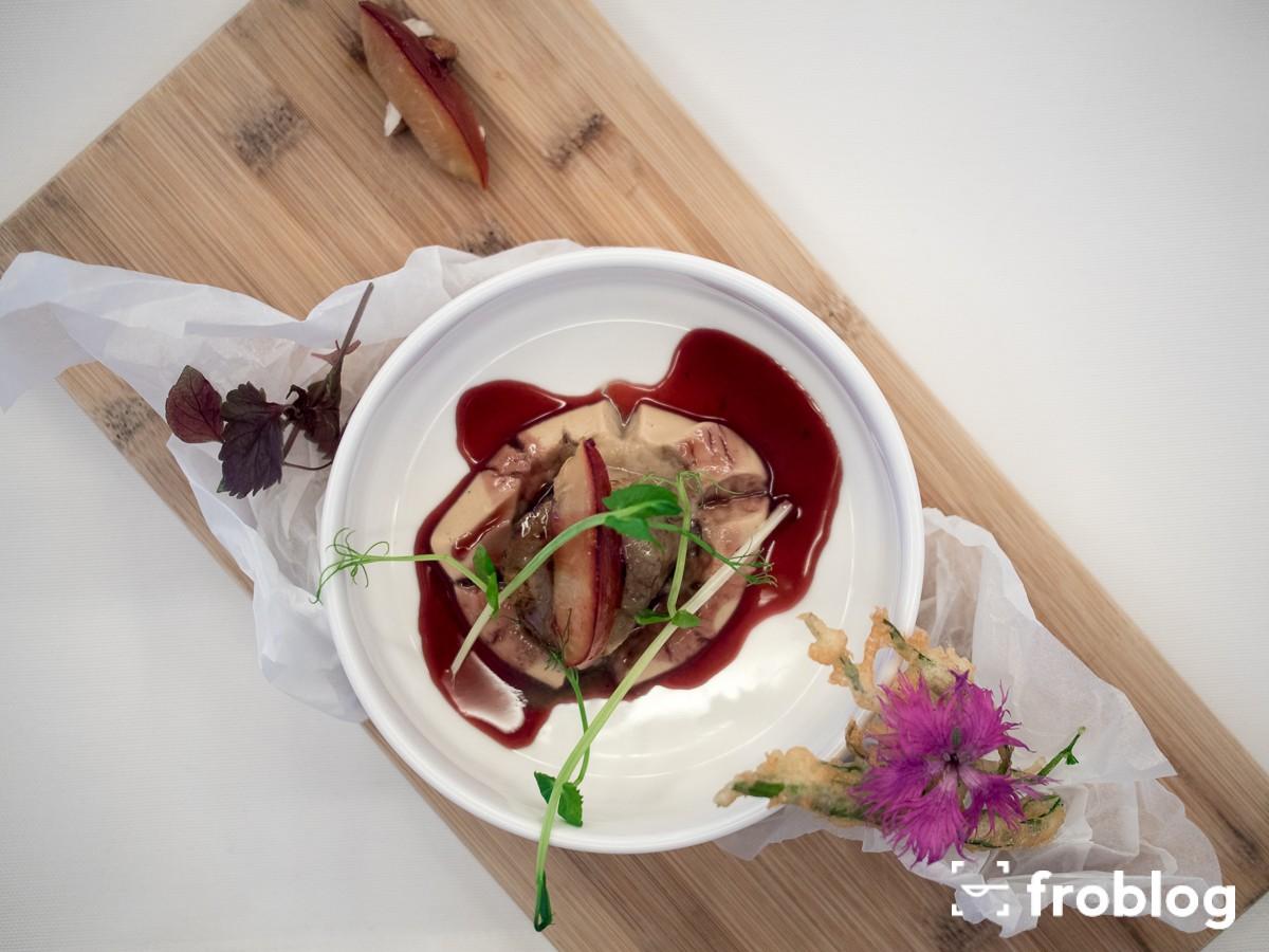 La Rotisserie Ciepła sałatka z mały Św. Jakuba
