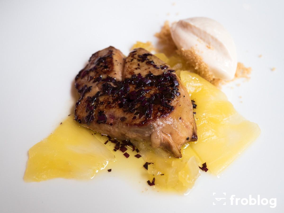 La Maison: Foie gras z ananasem